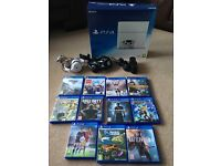 Playstation 4 (White) with lots of extras and games