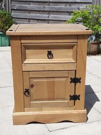 Two Wooden Bedside Cabinets