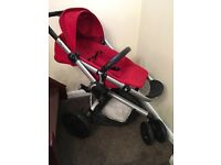 Quinny Buzz Xtra pram Red Excellent condition