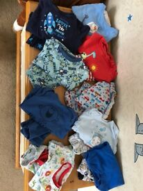 Baby clothes ages from 0 to 3 up to 12 months