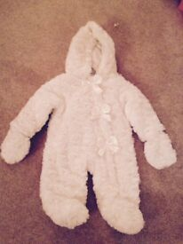 New baby snow suit with tags
