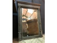 Vintage Antique French Painted Foxed Mirror