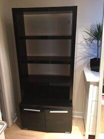 Black Gloss Bookcase