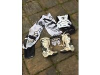 Fox motocross clothes and boots