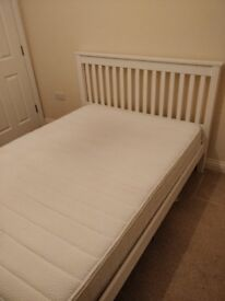 Double bed (mattress and frame)