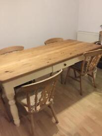 Farm house table chairs