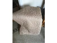M&S quilted bed throw