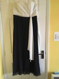 Long black/cream ball gown