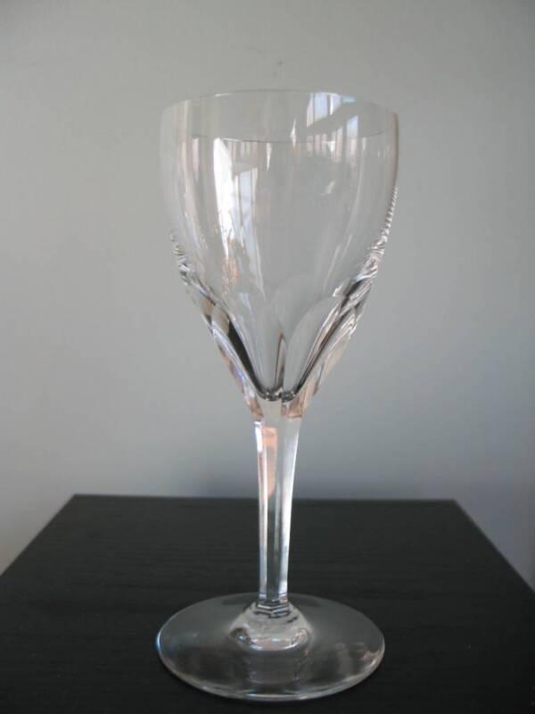 """BACCARAT Genova Crystal Claret Wine Glass (s) Stem (s) 6 1/2"""" Signed France"""