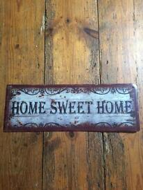 Home sweet home metal sign for sale