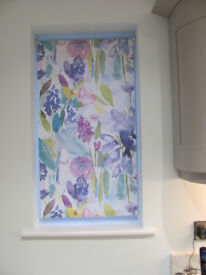 roller blind, multicoloured, 48cm wide. all fitments included