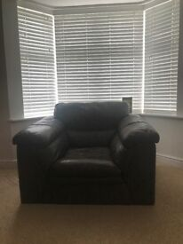 DFS Lovely Brown leather armchair