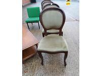 Dining chairs - solid dark wood. Vintage type