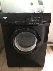 Bush TDV6B 6kg Black Sensor Drying Vented Tumble Dryer 1 YEAR GUARANTEE