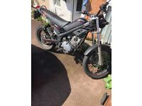 125 cc motorbike works perfect. Great quality build
