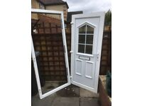 Upvc door, with frame, ex, cond could deliver