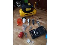 stanley compressor and tools