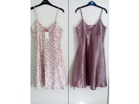 2 lovely silky chemises. New. Size 10/12. £4 each.