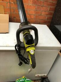 Petrol strimmer with cow horn handle bars long straight