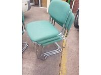 green office stacking chairs / Green office reception chairs / staffroom chairs