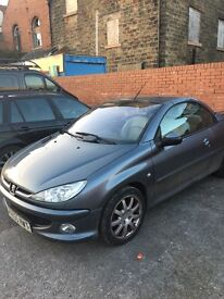 Peugeot 206 CC convertable 1.6 HDi Allure 2dr, Cream Leather, 2 owners, full service history
