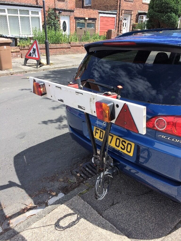 Paddy Hopkirk 2 Bike Quick Ball Tow Bar Mounted Carrier Cycle Rack With Light Board