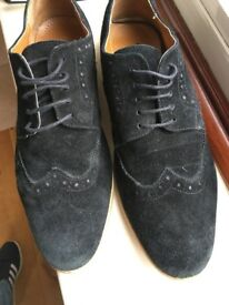Smart Mens shoes - black suede - size 10 (45) - excellent condition