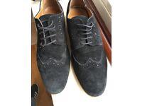 Smart Mens shoes - black suede - size 10 (45) - excellent condition