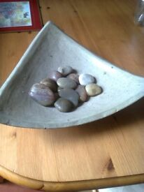 stone and pebble table centre piece