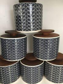 6 X Orla Kiely John Lewis Rrp150tea Storage Jar 1litre