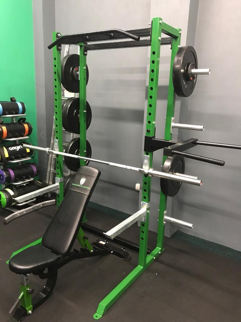 Half rack package complete small home gym package squat rack in