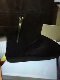 Women's black boots new in box