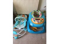 Chicco baby walker and finding nemo chair