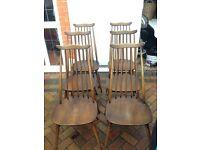 6 x Ercol goldsmith chairs