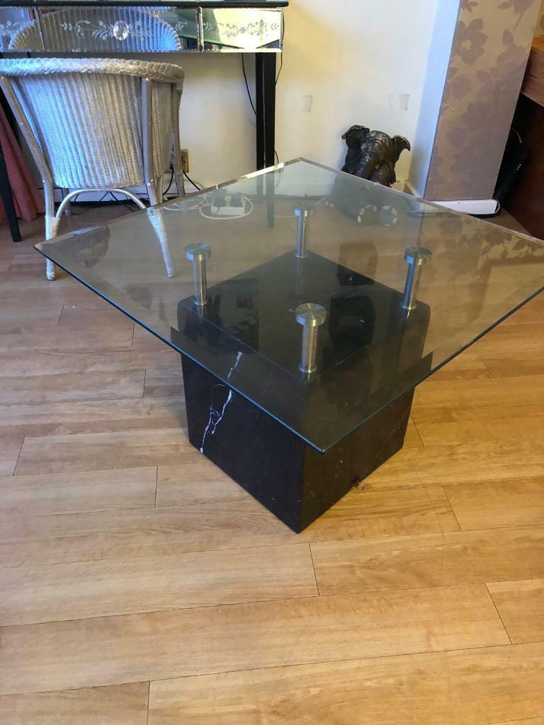 John Lewis Marble Glass Chrome Coffee Table In Rugby Warwickshire Gumtree