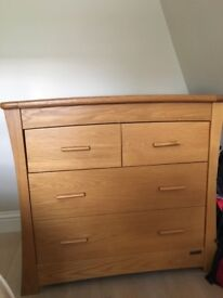 Mamas and Papas Ocean cotbed and chest of drawers