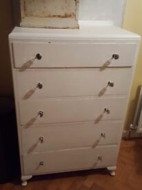 Wardrobe & matching chest of drawers queen anne feet