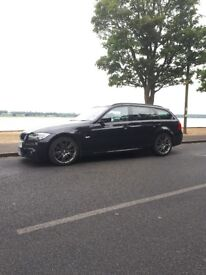 BMW 320d Touring Sport Plus Edition, Metallic Black, Black Leather interior, M-sport Steering wheel