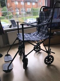 Lightweight wheelchair - never used- coopers of stortford