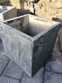 Three Square Concrete Planters
