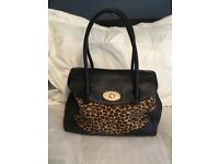 Russell and Bromley Black/Animal Print