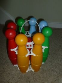 Skittles in original carry frame with balls