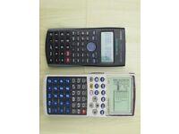 Sharp EL 990 graphing calculator with Casio Fx 83ES calculator