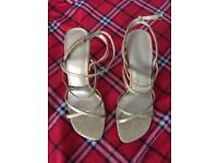 Dolcis gold sparkly party shoes size 5