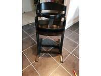 Baby Dan high Brown black high chair