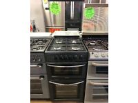 BELLING 50CM ALL GAS COOKER IN BLACK WITH LID