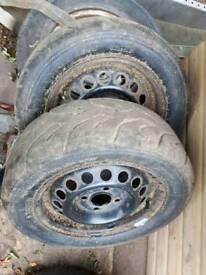 Pair Yokohama tyres