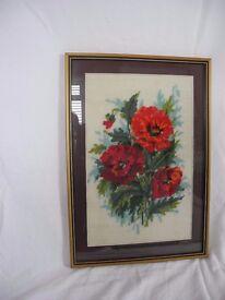 Framed Tapestry - Poppies