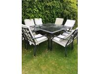 Free garden table & 8 chairs - Item now gone!