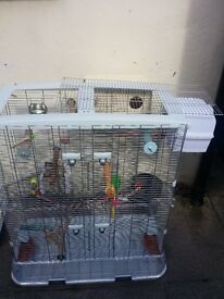 Hagen Vision Cage (Large) with bird Accessories